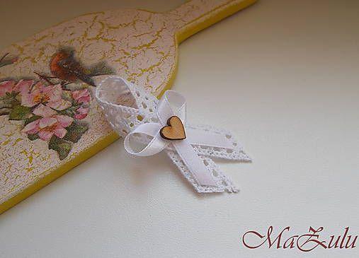 MaZulu / svadobné pierko Vintage biele