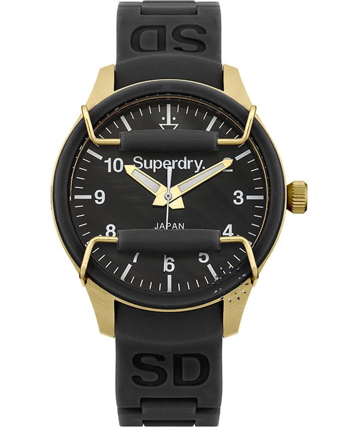 SUPERDRY Ladies Scuba Black Rubber Strap Τιμή: 109€ http://www.oroloi.gr/product_info.php?products_id=37028