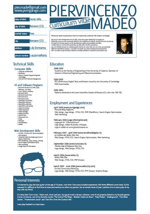 23 best CV design images on Pinterest Page layout, Charts and Cv - resume personal interests examples
