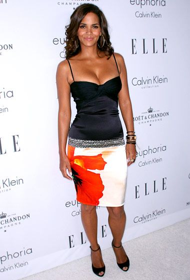 Halle Berry, six months after giving birth to Nahla ,  at ELLE's Women in Hollywood event in Beverly Hills 2008