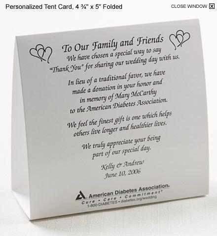 Wedding Gift Charity Donation Poem : ... wedding favours, Wedding favour donations and Wedding sunglasses