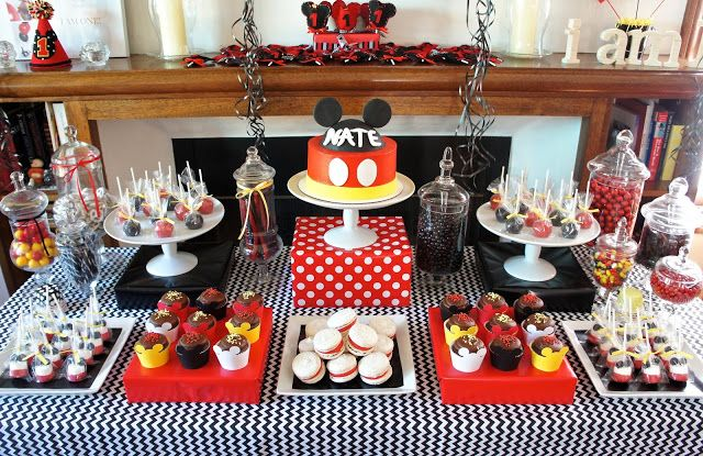 MICKEY MOUSE DESSERT TABLE #mickey #mouse #dessert #table by Half Baked Co.