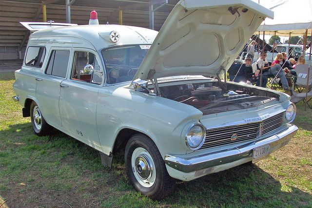 1965 Holden EH station wagon ambulance. Originally operated by St John Ambulance Brigade in Tasmania