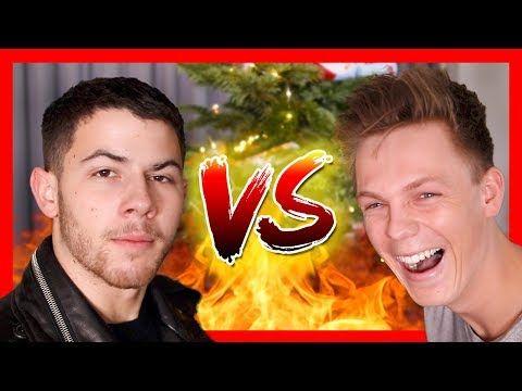 BAD CHRISTMAS JOKES - Nick Jonas vs Caspar Lee - YouTube