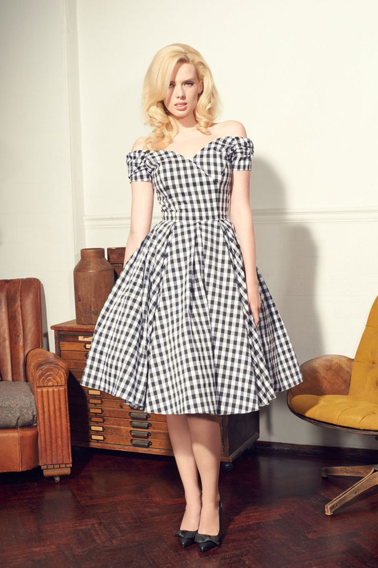 Fatale Black Amp White Gingham Prom Dress View 1 Clothes