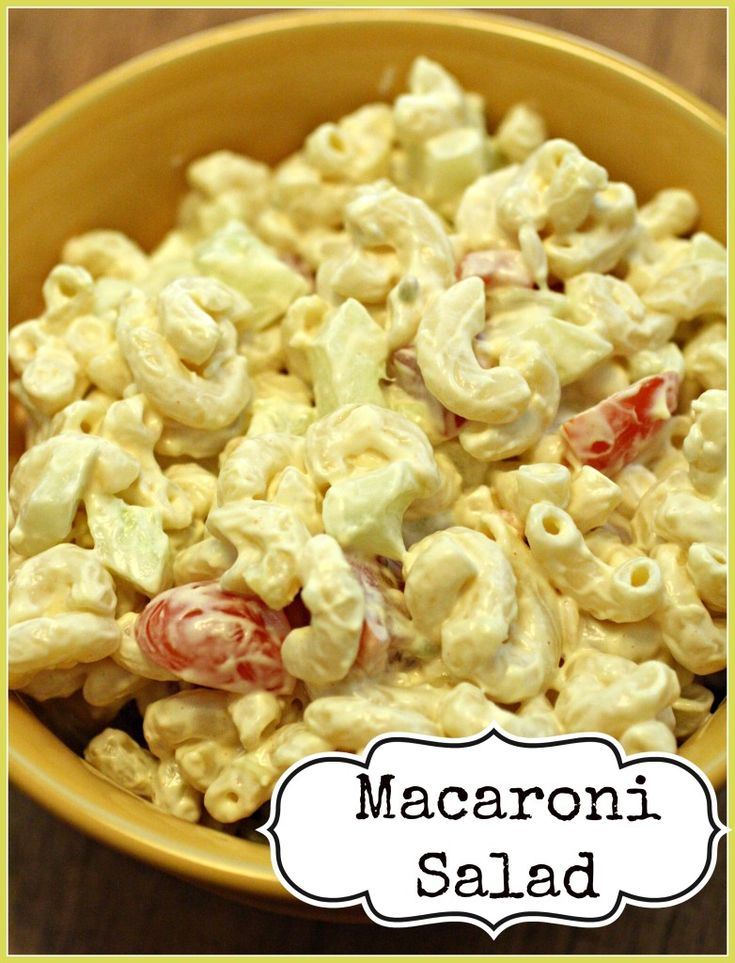 This is an easy and completely customizable macaroni salad recipe. As a southern gal, this is how I have always made it and LOVE it!