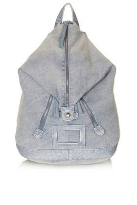 Zip Front Denim Backpack - Back In Stock - New In