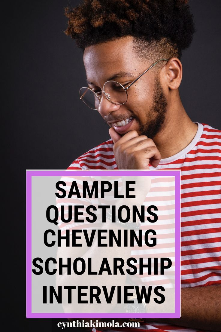 Chevening scholarship interview tips sample questions