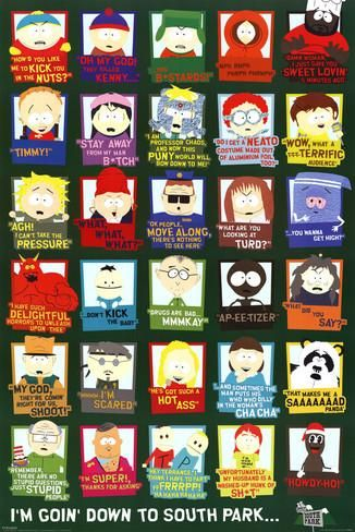 "South Park TV Show Quotes Wall Poster Art Print affiliate  24"" x 36"""