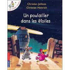 """Auteur : Christian JOLIBOIS ; cote : C JOL """"c'est un conte que j'ai aimé parcequ'il parle des étoiles, des poules, d'un poussin Carmélito qui rêve... Carmélito voudrait aller toucher les étoiles... """"Fait par Hamza K."""