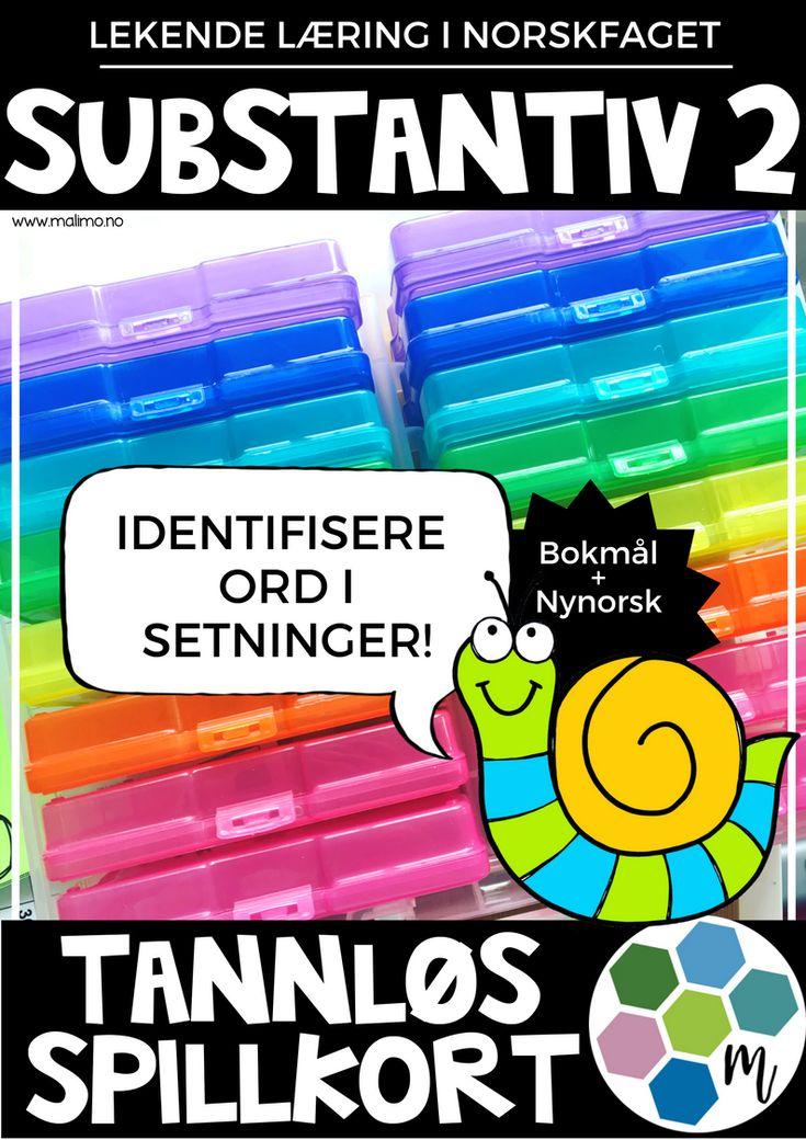 Tannløs-spillekort - Substantiv 2 - Identifisere i setning