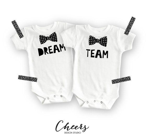 Funny Onesies® - Cute Onesies® - Twin Onesies - Dream Team Onesies - Baby Boy…