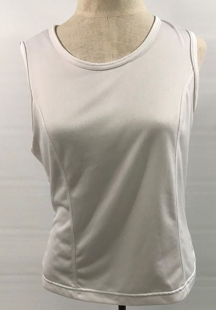 Ladies White Tank Top Athletic Works Gym Work Out Yoga Size Small S04   fashion  clothing  shoes  accessories  womensclothing  activewear (ebay  link) 5b67514e6d