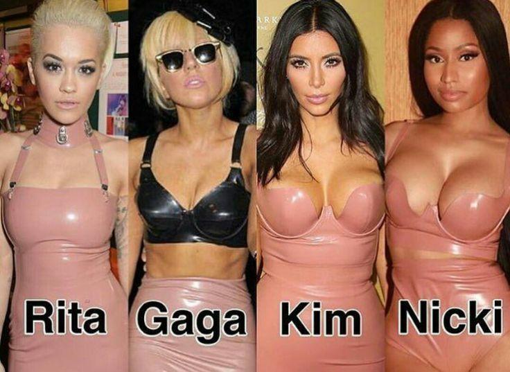 Who wore it better? Lady Gaga, Rita Ora, Kim Kardashian or Nicki Minaj ?
