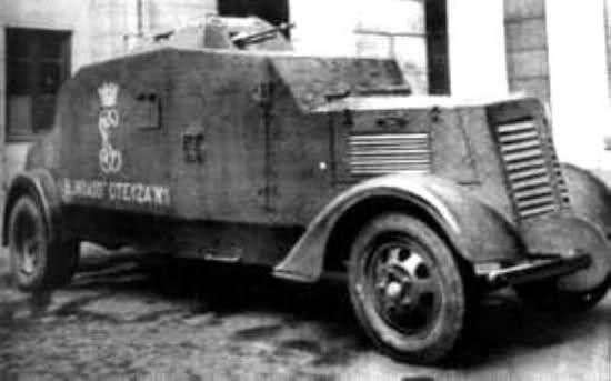 Spain - 1936. - GC - Vehiculo blindado Oteyza modelo 1935, construido en en 1935 y puesto en servicio por la Guardia Civil , fue construido sobre un chasis GMC 1935 modelo T23 CS contaba con un buen blindaje y esta armado con una ametralladora Hotchkiss y un fusil ametrallador ademas del armamento de la tripulacion