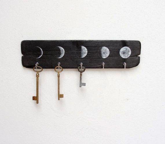 moon phase key hanger