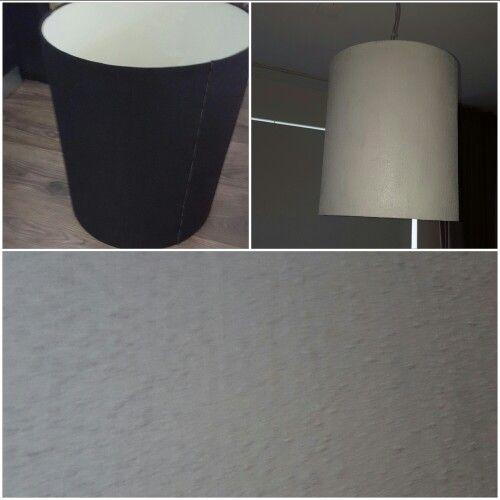 Oude lampenkap opgeknapt met beton verf totale kosten €3,50 exclusief oude kap
