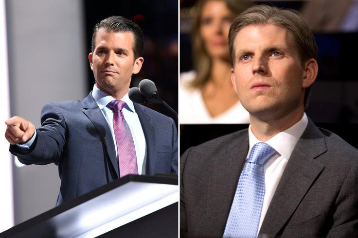 Donald Jr. and Eric Trump's tie knots.
