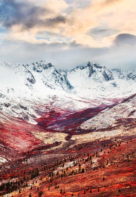 Montañas de Lápida, Yukón Territorio, Canadá