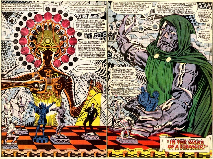 joekeatinge:        Kinda losing it over this gigantic Jim Steranko Doctor Doom. Found via one of Seattle, WA's great comic shops, Arcane Comics.    Whoa what?!