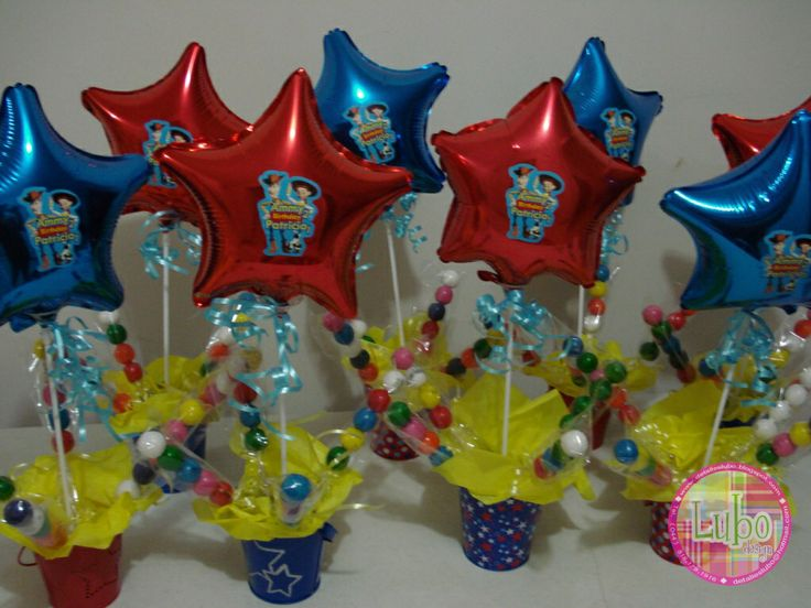 Toy Story Centro de mesa | ELMO'S PARTY IDEAS | Pinterest