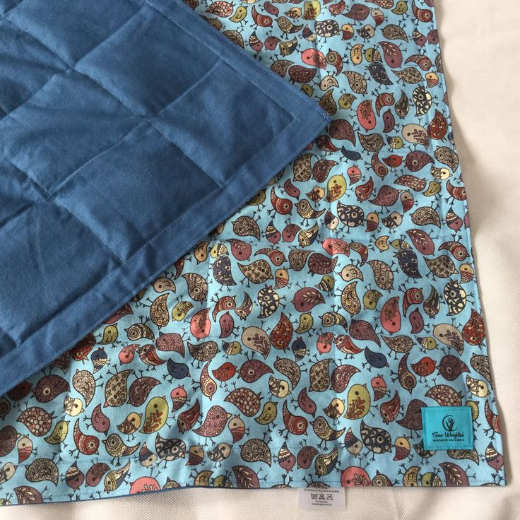 2.5kg Weighted Blanket 81 x 73 cm approx. I hand make a range of weighted products in different weights, sizes and colours. To view them click a photo to visit my website.