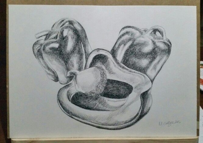 A2. Peppers. Charcoal. R150