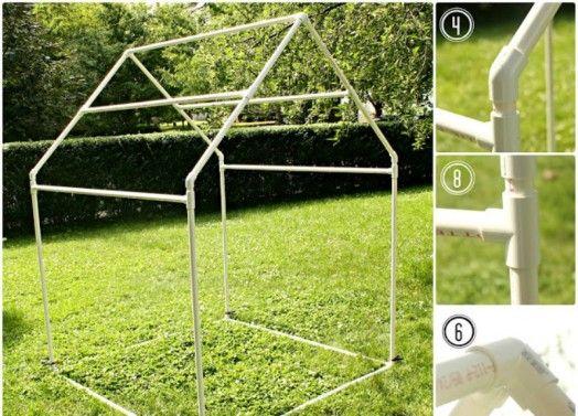 DIY Cool PVC Playhouse And Sunshade For Kids   Kidsomania