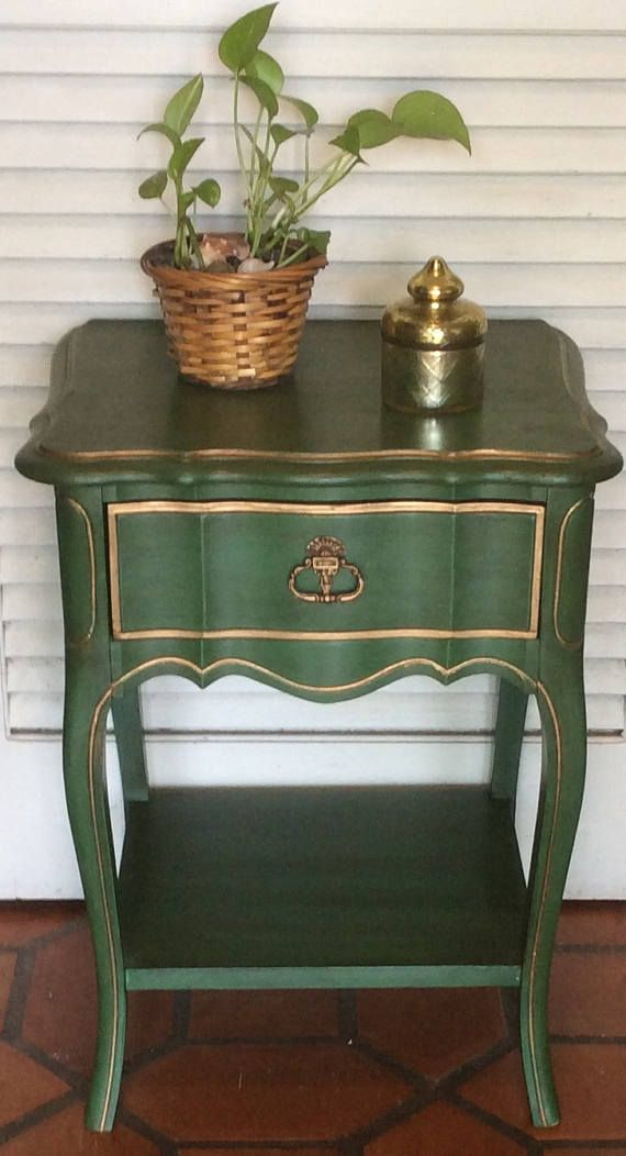 Hey, I found this really awesome Etsy listing at https://www.etsy.com/listing/265743434/green-nightstand-vintage-french