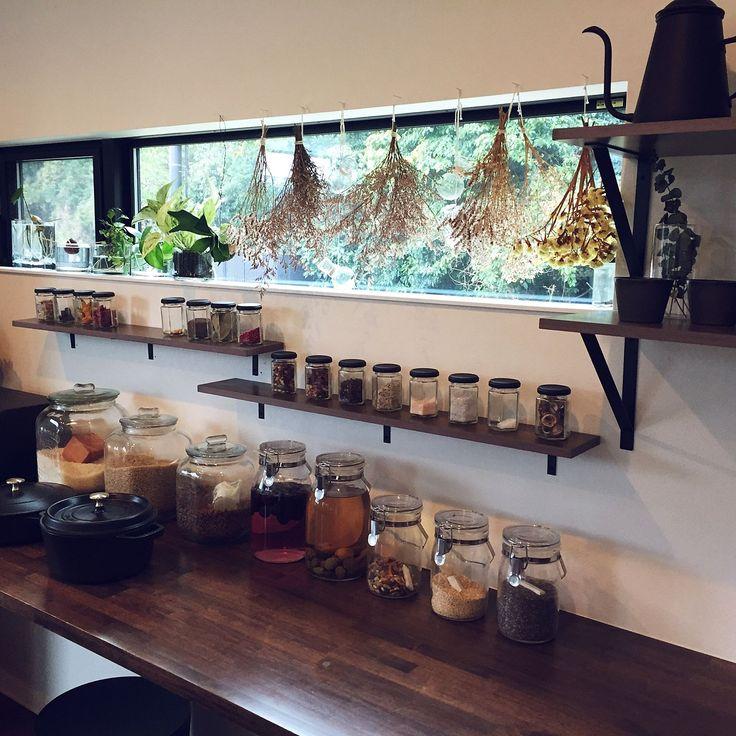 インスタ tongarihouse/棚/グリーン/マットブラック/観葉植物…などのインテリア実例 - 2016-11-15 12:56:02 | RoomClip(ルームクリップ)