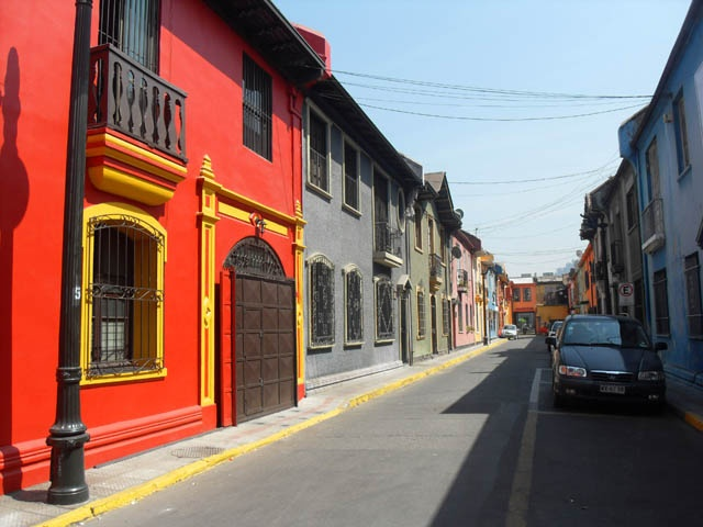 Back streets of Santiago, Chile