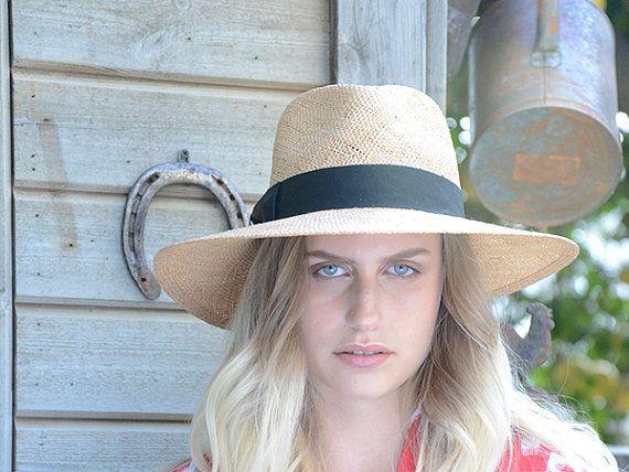 Fedora straw hat , Wide brim straw hat , Fedora straw hat for women, straw hat for men, Summer hats , Sun Hat , Beach hat
