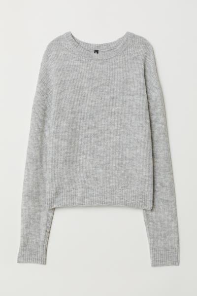 Knitted jumper - Light grey marl - Ladies  c131f3ce4