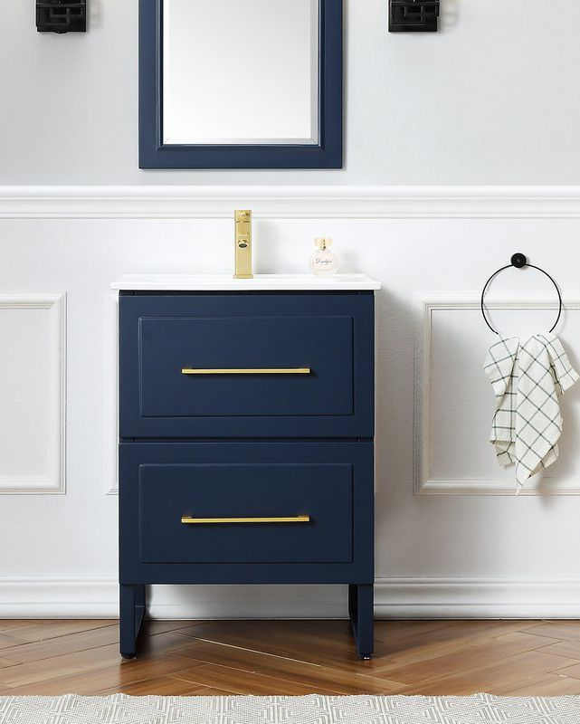 These Small Space Friendly Vanities Are Perfect For Your Tiny Bathroom Makeover Single Bathroom Vanity Bathroom Decor Bathroom Vanity