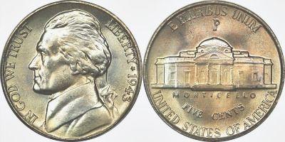1942 - 1945 : War-Time Nickel - U.S. Junk Silver Coins