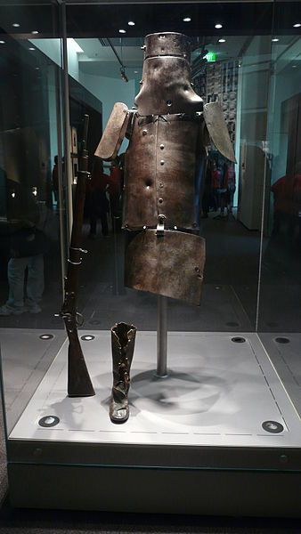 This was Ned Kelly's armor he went out in before he was caught.