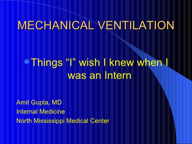 Mechanical Ventilation by Dang Thanh Tuan via slideshare