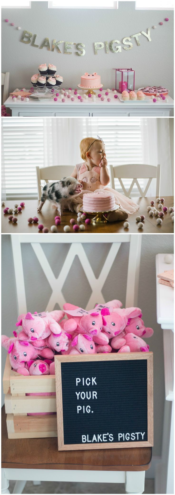 First Birthday Party | Baby Birthday Party | Girl Birthday Party | Pig Party | Birthday Party | Party Planning | Feminine Party