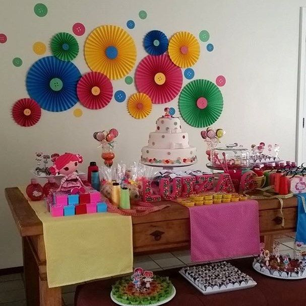 Festa infantil para menina com tema Lalaloopsy super bacana por @projetafesta  #kikidsparty