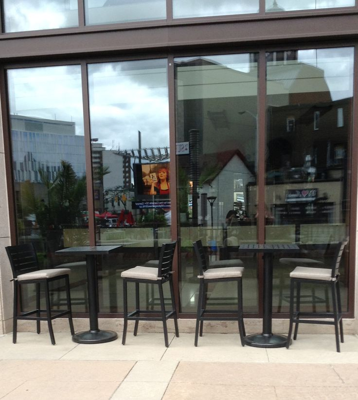 Cafe outside the Rose Theatre in Brampton, Ontario #patio #furnuiture #summer #outdoors
