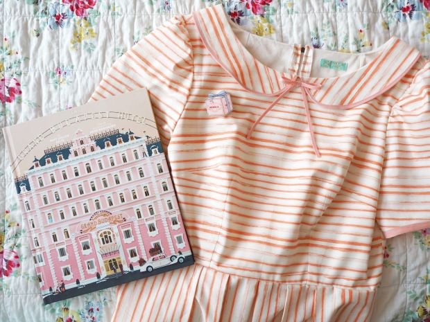 Emery dress, inspired by Agatha's Mendl's uniform from the Grand Budapest Hotel, by Wes Anderson