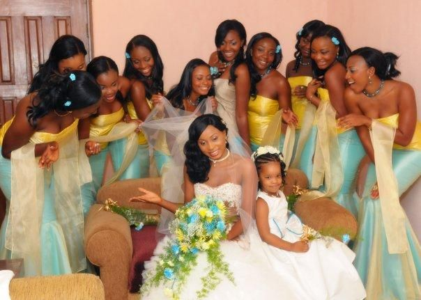 50 Wedding Hairstyles For Nigerian Brides And Black: African Bridesmaid Dresses For A Modern Fashionista