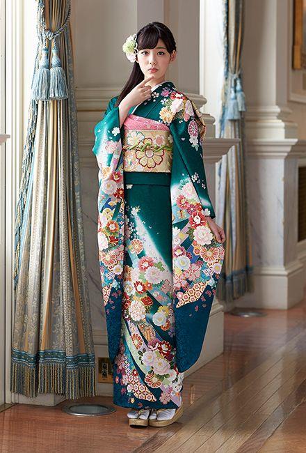 NO.067 正絹 京友禅 成人式の振袖販売、振袖レンタルの京都きもの友禅