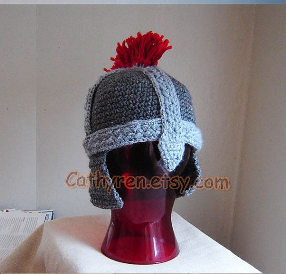 Roman Soldier Helmet Greek Trojan Hat INSTANT by CathyrenDesigns