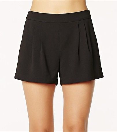 Show off your legs with this chic black crepe short.