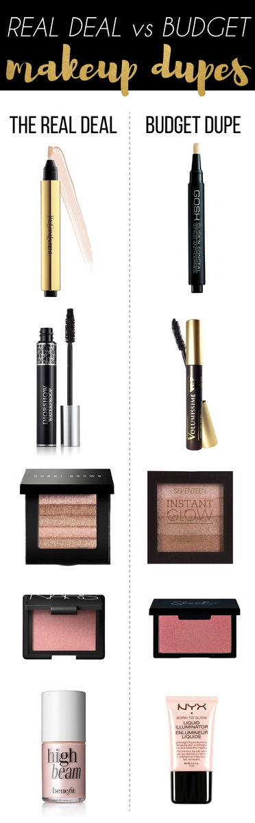 The more money you save on those expensive beauty items, the more you can spend on those makeup dupes!