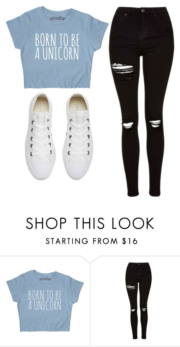 """""""Untitled #467"""" by cuteskyiscute on Polyvore featuring Topshop and Converse #schooloutfits"""