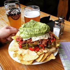 The Auld Hoose: Non-vegetarian pub in Edinburgh with plenty of vegetarian and vegan options. Well-known for their vegan nachos.