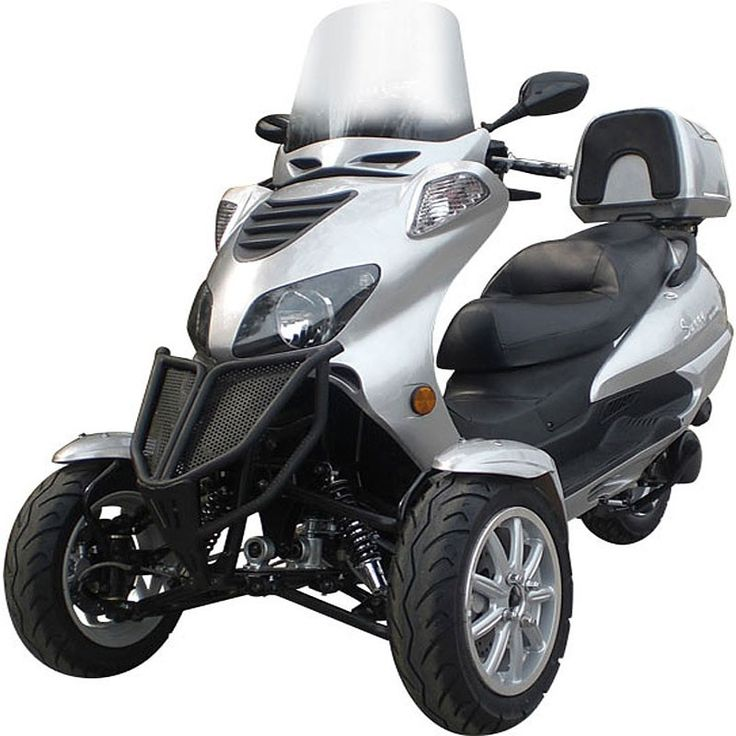 3 wheels scooters, MC_D150TKB, Sunny 150cc Three-Wheel Trike Scooter, scooterdepot