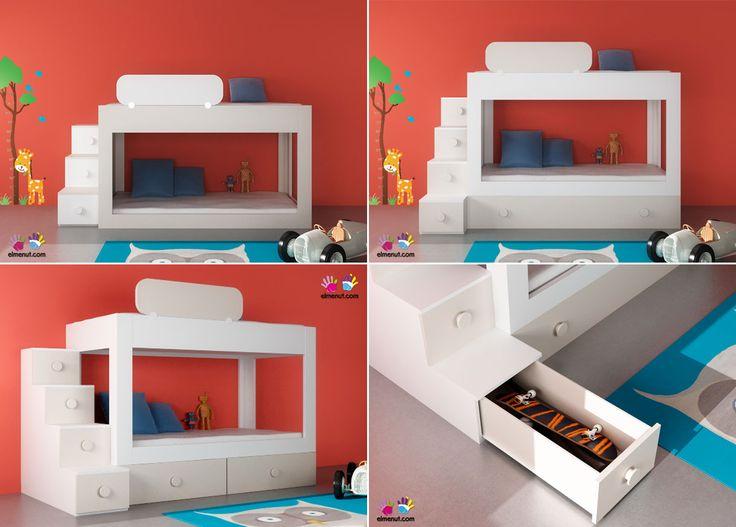 Las 25 mejores ideas sobre almacenamiento bajo la cama en for Base cama almacenaje